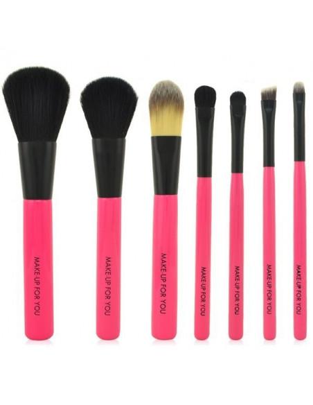 Boitier de 7 pinceaux Make-up Rose