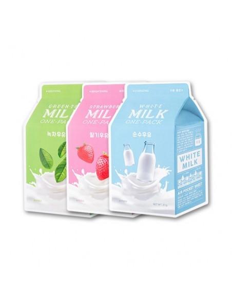 """APIEU Masque en tissu au lait """"Milk one pack » 21 gr"""