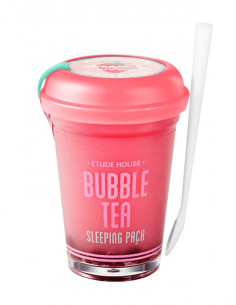 ETUDE HOUSE Masque de Nuit Bubble Tea Sleeping Pack Fraise 100g