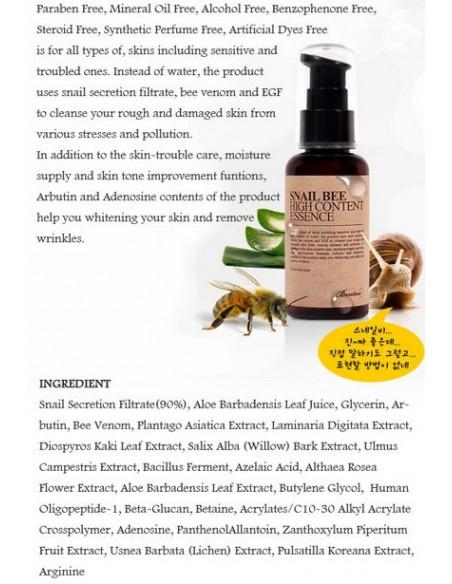 BENTON Sérum Snail Bee High Content Essence 60ml
