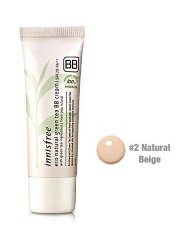 INNISFREE Eco Natural Green Tea BB Cream SPF29PA 40ml 02 Natural Beige