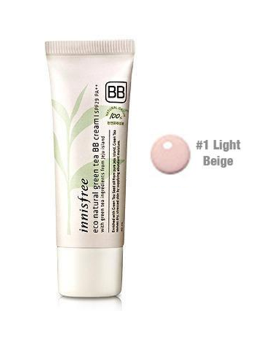 INNISFREE Eco Natural Green tea BB Cream SPF29PA ++ 40 ml teinte 02 natural beige