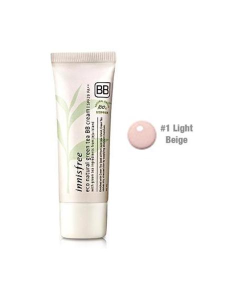 INNISFREE Eco Natural Green Tea BB Cream SPF29PA++ 40ml 01 Light Beige