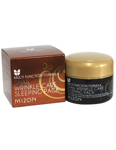 MIZON Crème de Nuit Anti-rides Anti-âge Mucus Escargot Snail Wrinkle Care Sleeping Pack 80ml