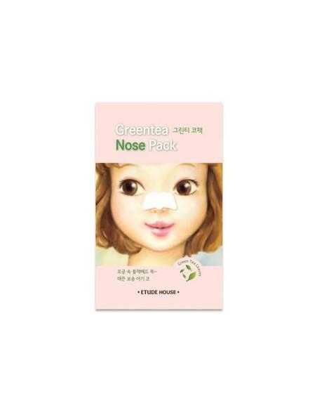 ETUDE HOUSE Patch anti-point noirs au thé vert « Greentea Nose Pack » à l'unité