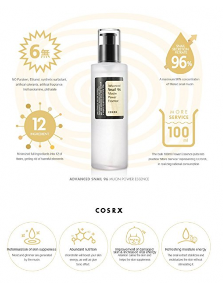 COSRX Sérum escargot Advanced snail 96 mucin power essence