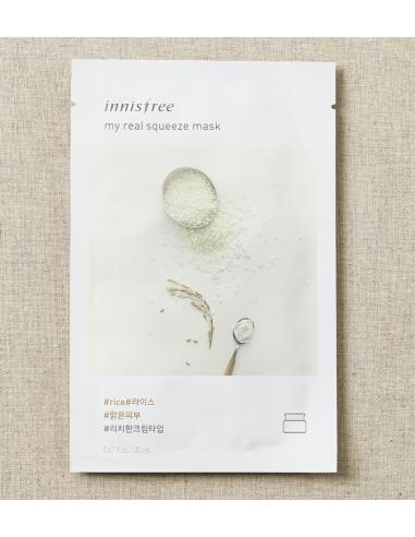 INNISFREE Masque tissu imbibé au sérum My Real Squeeze Mask RICE 20ml