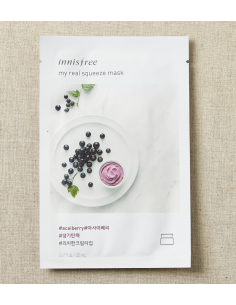 INNISFREE Masque Tissu Sérum Détox My Real Squeeze Mask ACAÏ BERRY 20ml