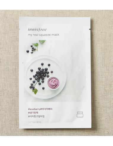 INNISFREE Masque Tissu Sérum Détox My Real Squeeze Mask ACAÏ BERRY 20ml