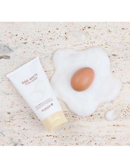 SKINFOOD Crème Nettoyante Éclat Anti-pores dilatés Egg White Pore Foam 150ml