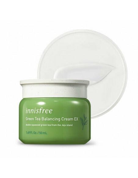 INNISFREE Crème Visage Anti-âge Hydratante Anti-oxydante Thé vert Green Tea Balancing Cream 50ml
