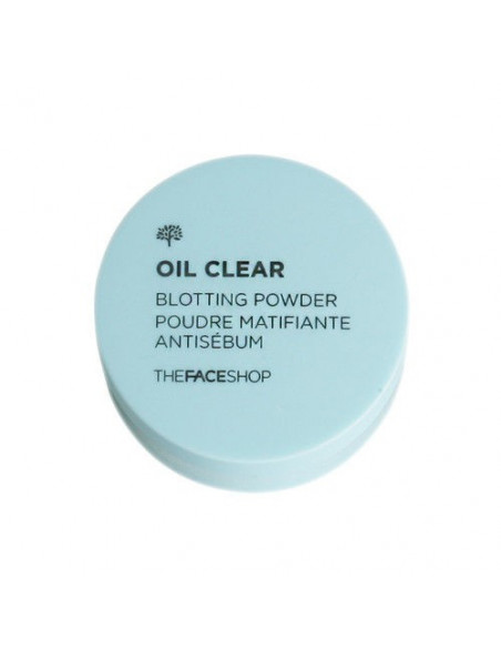 THE FACE SHOP Poudre visage unifiante matifiante Oil clear Blotting Powder 6g