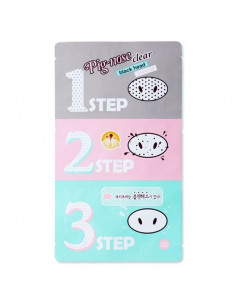 "HOLIKA HOLIKA Patchs anti points noirs en 3 étapes ""Pig Nose Clear Blackhead 3-Step Kit""   7 gr"