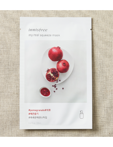INNISFREE Masque Tissu Grenade My Real Squeeze Mask Pomegranate 20ml
