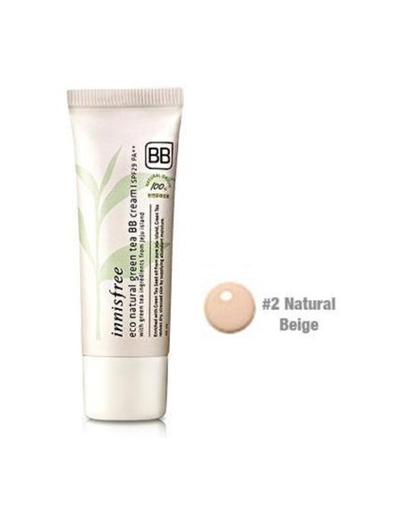 INNISFREE Eco Natural Green tea BB Cream SPF29PA ++ 40 ml teinte 02 natural beige
