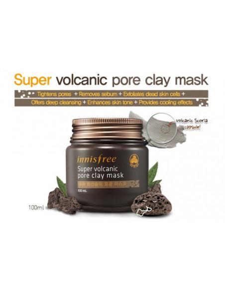 INNISFREE Masque anti-points noirs et pores dilatés JEJU Volcanic Pore Clay Mask