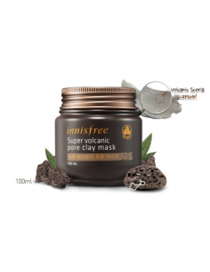 INNISFREE Masque anti-points noirs et pores dilatés JEJU Super Volcanic Pore Clay Mask 100ml