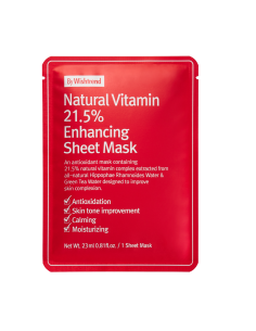 BY WISHTREND Masque Tissu Anti-tâches brunes et imperfections Natural Vitamin C Enhancing Sheet Mask