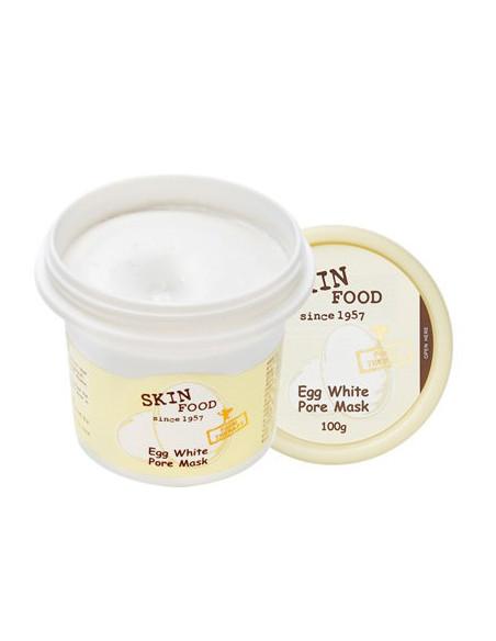 SKINFOOD Masque Eclat et anti-pores dilatés Egg White Pore Mask 100g
