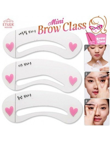 "Etude house Kit Pochoir sourcils 3 formes ""mini braw class drawing style"""