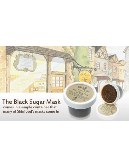 """SKINFOOD Masque Gommage 2 en 1 """"Black sugar Mask Wash Off"""" 100 gr"""